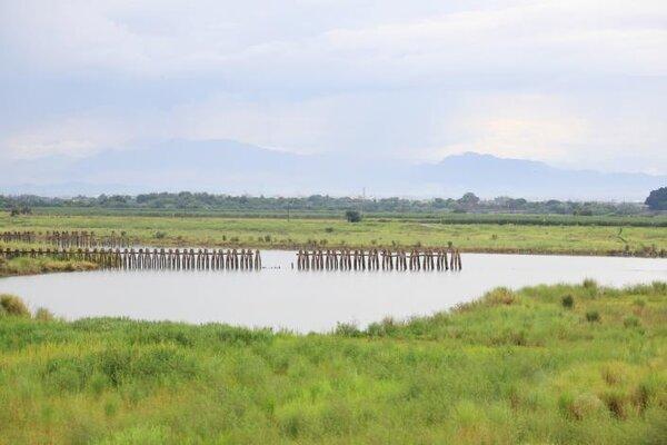 溪尾滯洪池在中央的補助下,台南市政府再投注7500萬,執行滯洪池周邊景觀改善計劃。圖/台南市政府提供