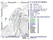 05:33台中霧峰規模4.1地震 最大震度彰化4級