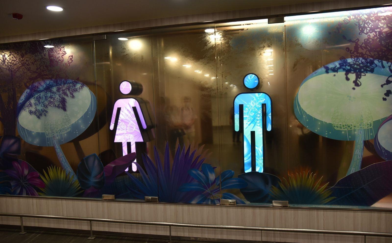 桃園機場73間智慧廁所上路。圖/桃園機場提供