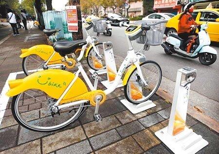 北市公共自行車YouBike2.0,明年底前將設置1200個2.0站位,並全面汰換400個1.0站位。(本報資料照片)