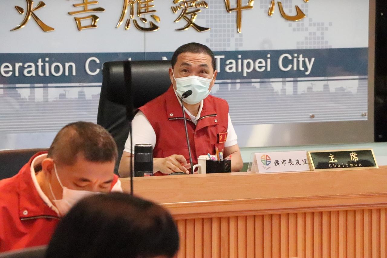 新北市長侯友宜今主持第65次防疫會議。記者吳亮賢/攝影