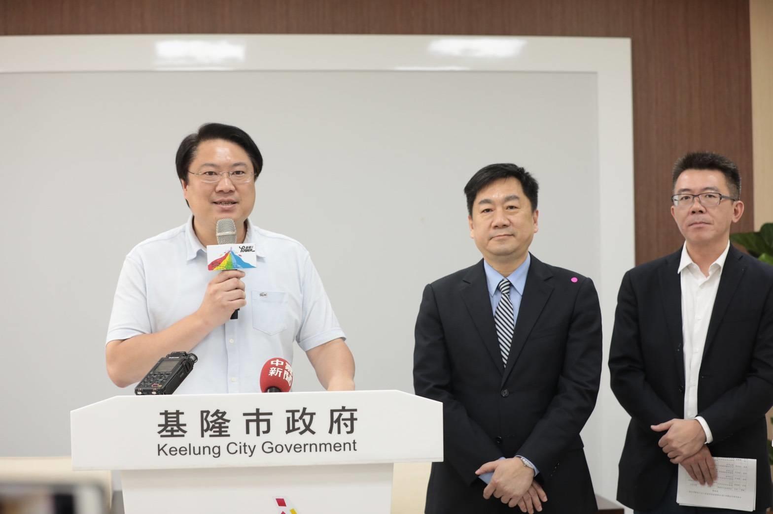 基隆市長林右昌與內政部政務次長陳宗彥一同宣布,今年國慶晚會將首度移師基隆舉辦。圖/基隆市政府提供