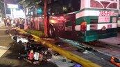 內湖公車司機打瞌睡 衝上人行道1死1傷