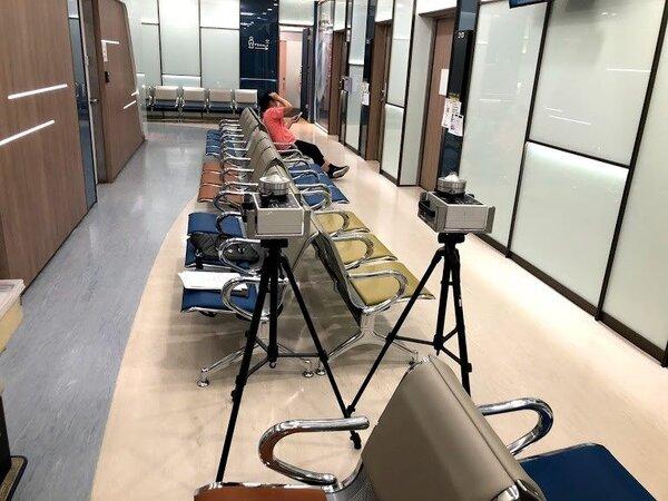 台北醫學大學附設醫院、三軍總醫院內湖院區及台北市立聯合醫院陽明院區被檢測出室內空氣品質細菌濃度超標,被要求限期改善。圖/台北市環保局提供