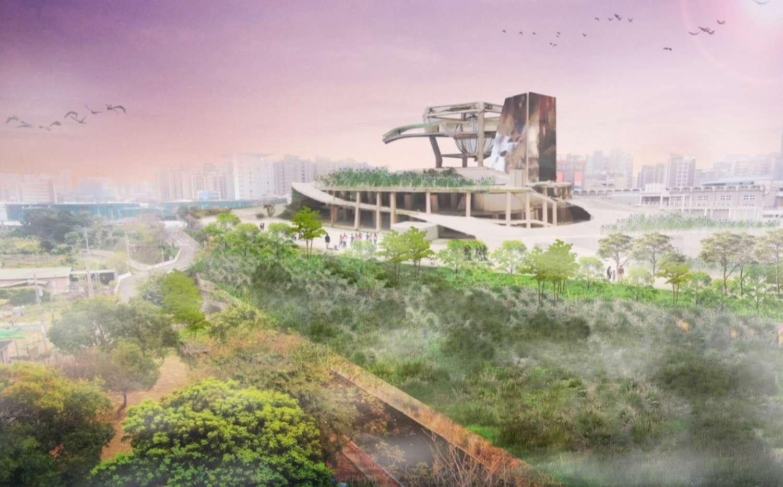 活化隆恩圳串起藝文高地,100公尺小溪打造城市藍綠帶。圖/新竹市政府提供