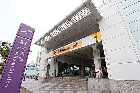 捷運三重站附近區開發域早、生活機能完善,周邊房價高。圖/取自維基百科