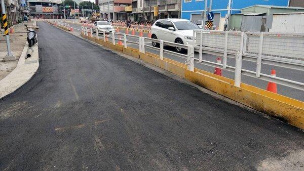 台中市東區建成地下道填平,將於11月13日全線通車。圖/台中市建設局提供