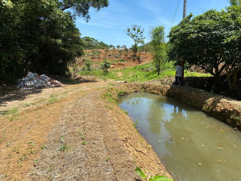 經輔導後設置農塘,以便儲留水源。圖/新北市農業局提供