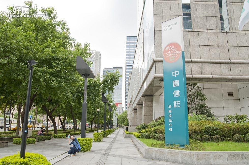 中國信託總部大樓,台北市信義區松壽路3號。(好房news記者 陳韋帆/攝影)