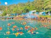 日月潭萬人泳渡 只在水中「免罩」