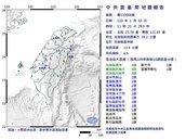 又震了!11:23花蓮發生規模4.9地震 最大震度4級