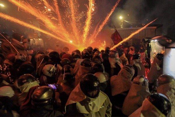 台南鹽水蜂炮百年傳統不受疫情中斷,將改採集中施放且不開放一般民眾進入情況執行。圖/台南市府觀光旅遊局提供