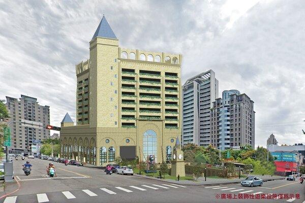 北屯廣兼停23土地招商成功,未來將打造13層樓高的停車場、商場與及共融式廣場立體化園區。圖/台中市交通局提供