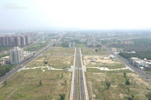 岡山社宅基地空拍圖。照片高雄市都發局提供