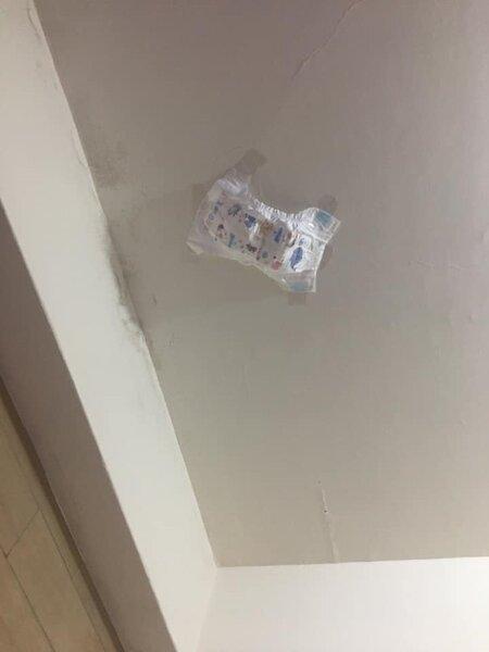 原PO意外發現尿布接漏水超好用,其他網友大讚太有才。圖/截自臉書社團《爆怨公社》