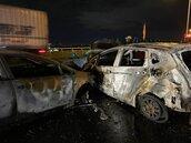 中市台74北上太原出口火燒車 造成1死1傷