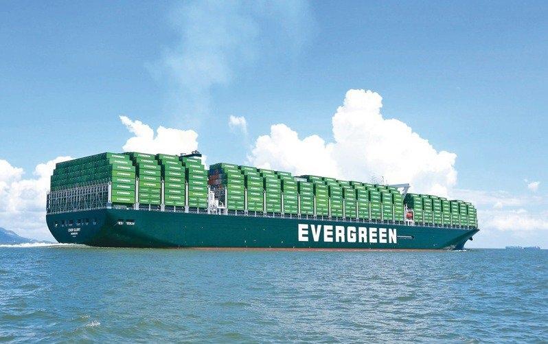 長榮貨櫃船示意圖。 聯合報系資料照