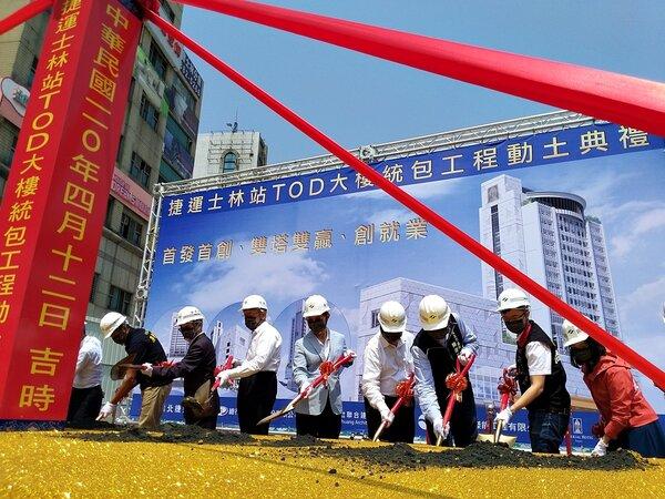 台北捷運第一座TOD案在捷運士林站,預計2023年7月完工。而捷運劍潭站、劍南路站也啟動TOD案。圖/好房網News記者林和謙攝