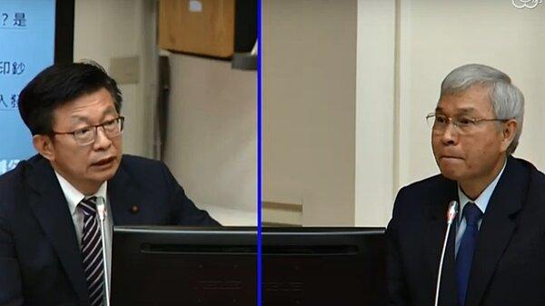 將自然人第二戶貸款成數限制到5成以下?央行總裁楊金龍(左)指出,會持續觀察房市情況,如果仍過熱,不排除祭出第三波管制措施。圖/立法院