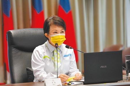 台中市民抱怨未收到地震手機警示,市長盧秀燕20日建議中央統一發布標準,避免民眾莫衷一是。(盧金足攝)