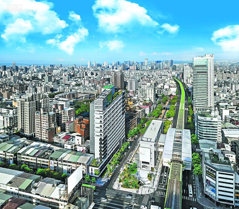 台中市北屯區產業、軌道經濟到位 2021年1-6月六都淨遷入人口排名冠軍。圖/永慶房屋提供