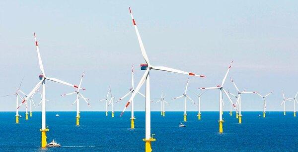 圖為達德能源成功在德國設置離岸風力發電。(達德能源提供)