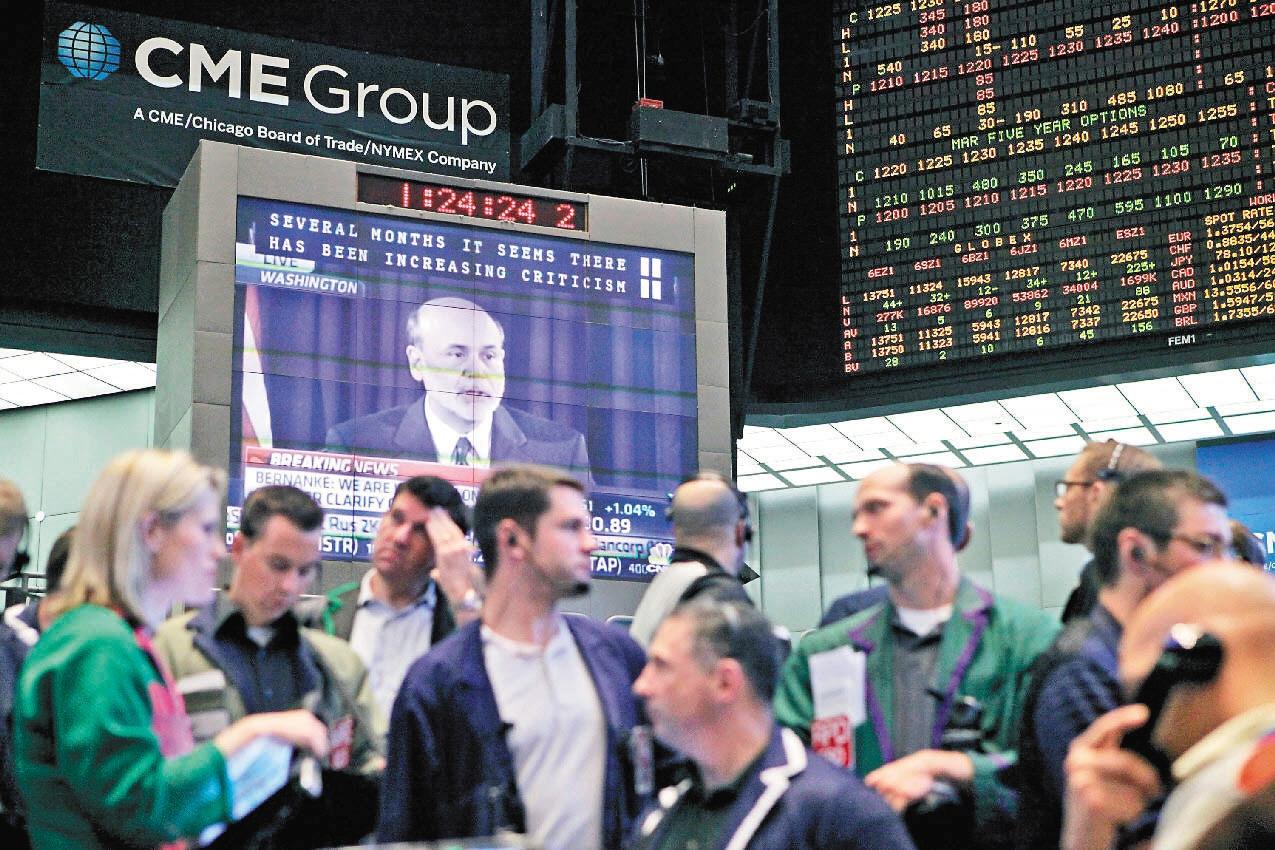 聯準會本月開始縮減量化寬鬆(QE)規模的機率大增,但美國股市6日不跌反漲,顯示市場已較能以平常心看待QE退場。 (彭博資訊)