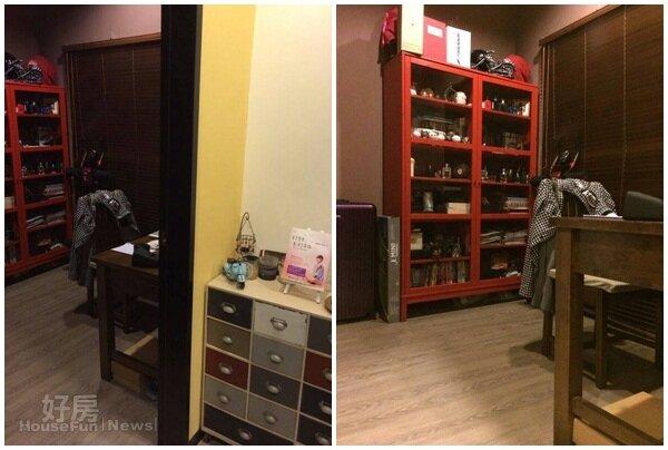 5.書房裡的櫃子收藏著她與老公最愛的香水。 6.臥房與書房間的小玄關,擺放著貴婦奈奈的新書。