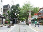 花蓮市的西門町 舊鐵道遊廊工程施作