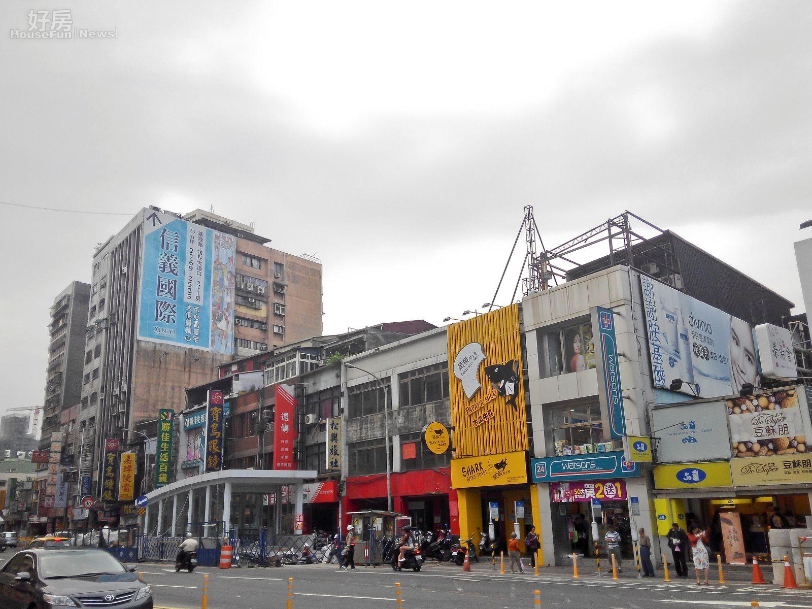 捷運松山站附近店家景。(好房News記者 陳韋帆/攝影)