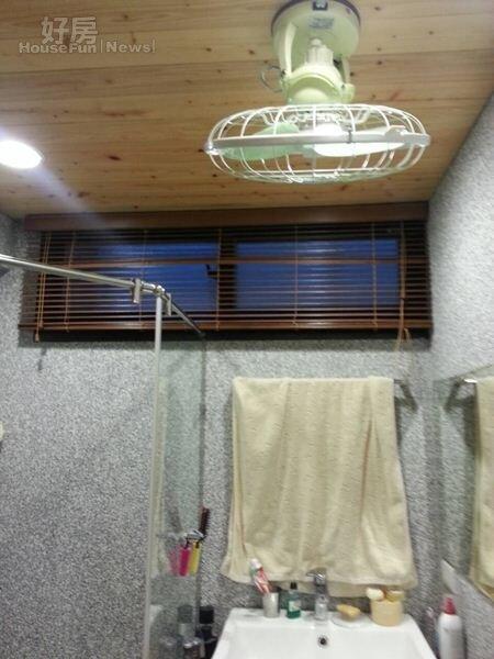 5.廁所裝電風扇一方面消除穢氣,也可以散熱。