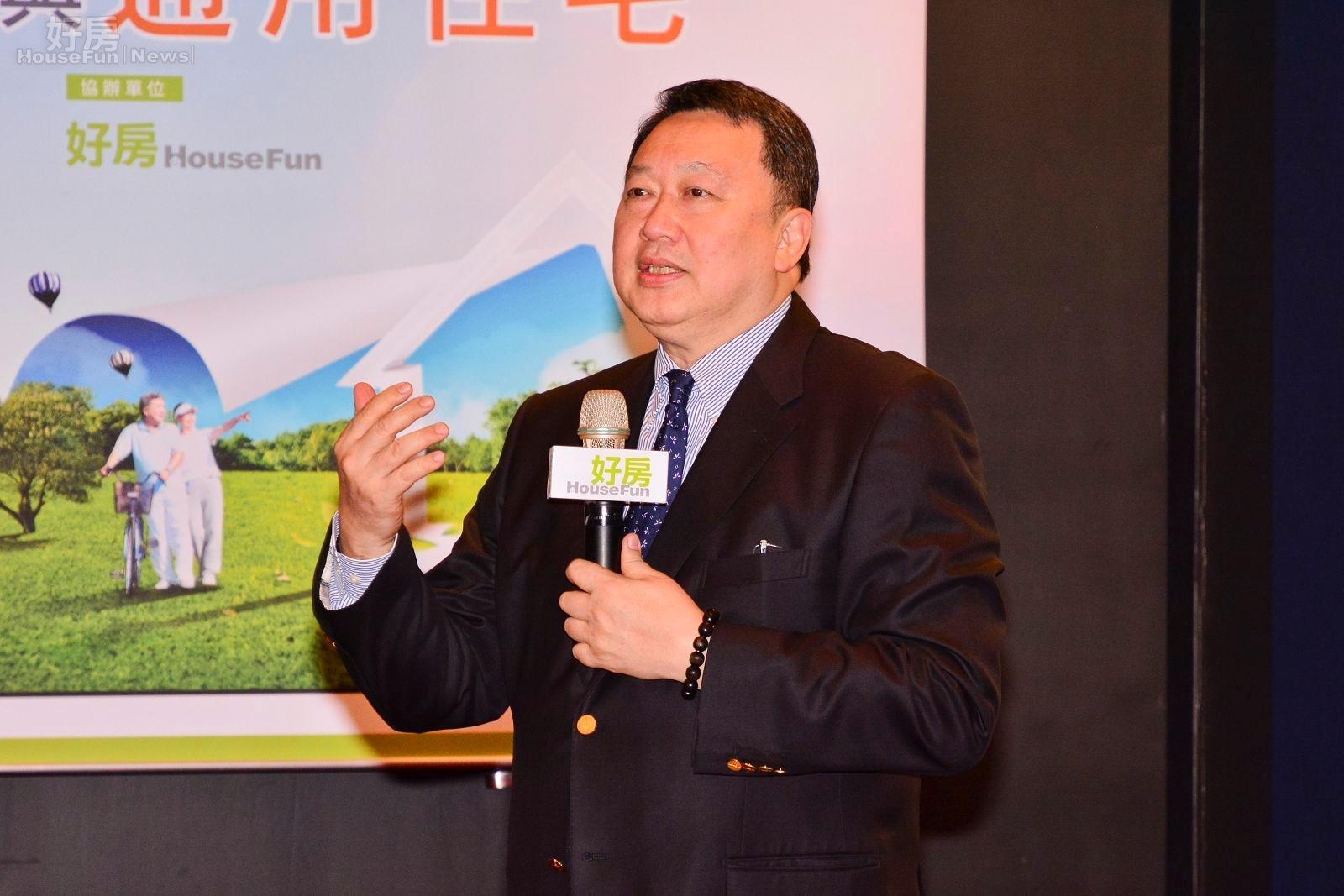 永慶慈善基金會董事長趙怡,解釋未來銀髮族與通用住宅的重要性。(好房News記者 陳韋帆/攝影)
