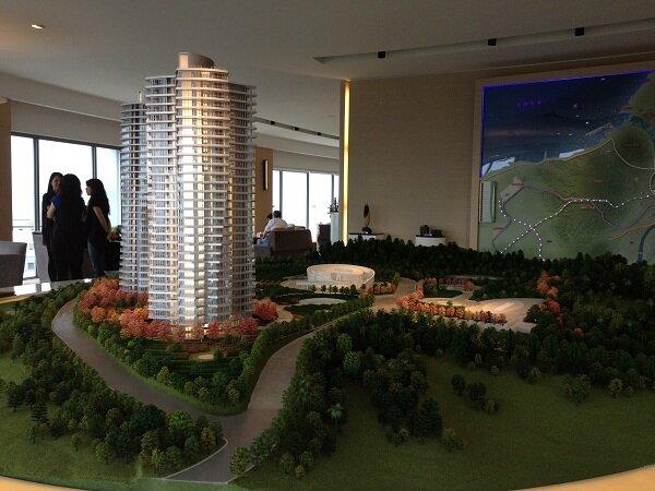 淡水小坪頂預售案「萬通台北2011」從海外先銷售,吸引許多國外買方。(圖/馮牧群攝)