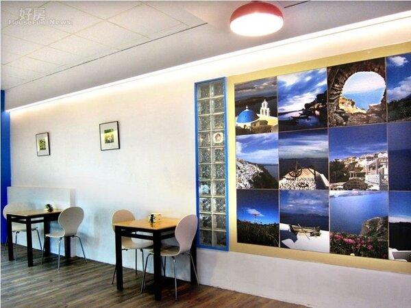 6.店內有幅很大的攝影牆,未來會換成畫家自己的畫作。