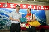台中港旅客破10萬人次 到港旅客成長率138%