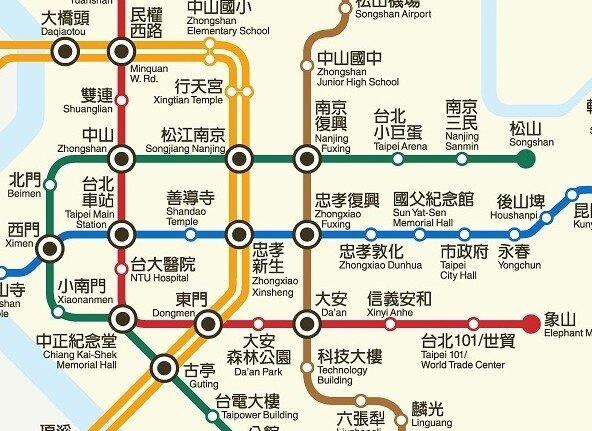 捷運松山線(截取自台北市捷運局網站)