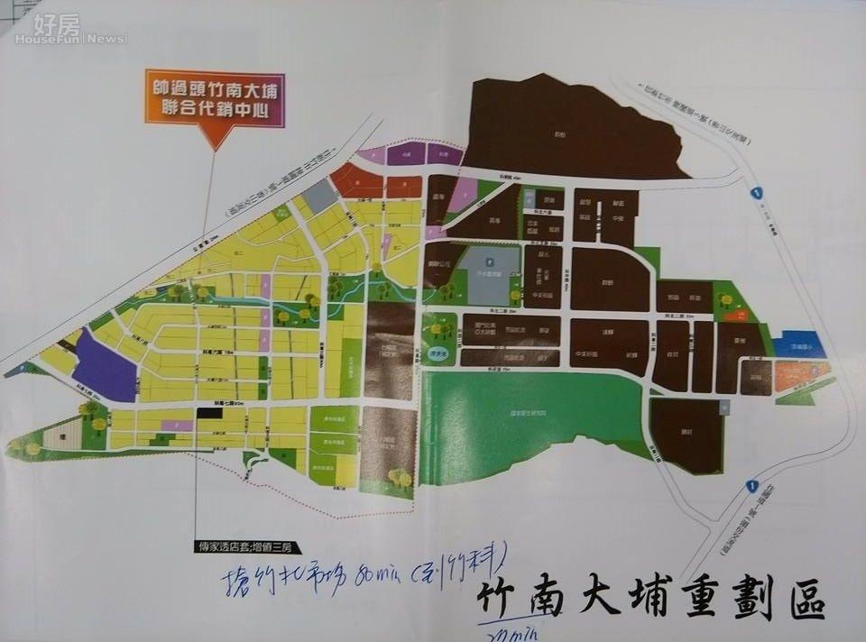 投資客帥過頭轉型當代銷,帶團在竹南重劃區買房。(好房網News記者蘇彥菱攝)
