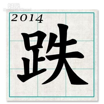 2014關鍵字-跌(好房資料中心)