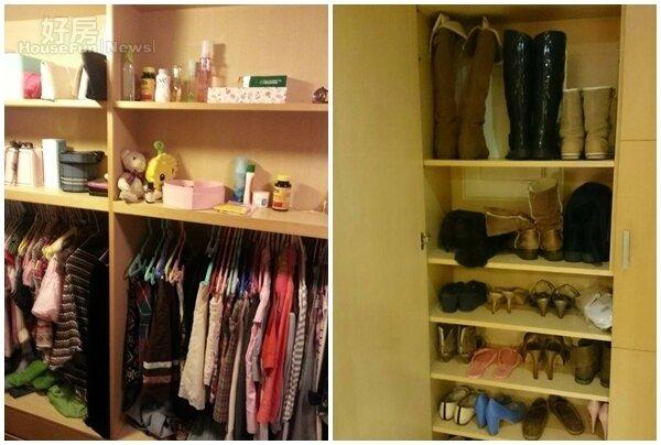 4.收納強大的更衣間,讓她一眼就愛上。 5.鞋櫃也能擺放不少雙鞋。
