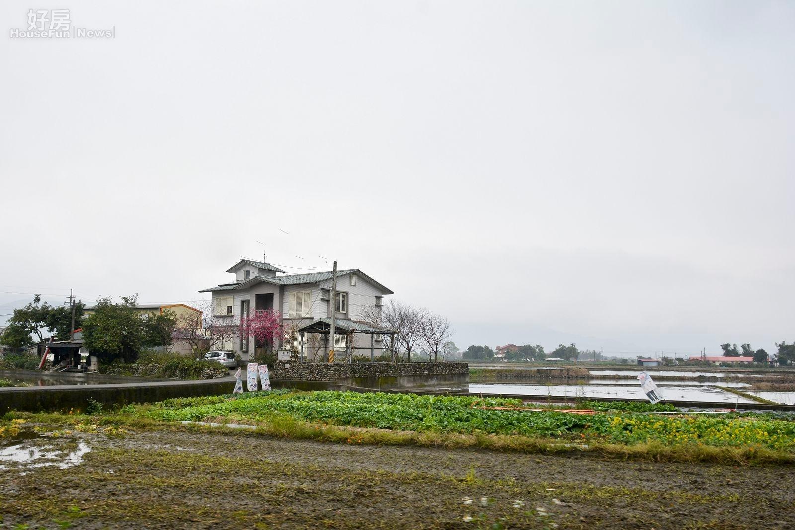 農用地依照規定可蓋小面積的農舍。(好房網News記者 陳韋帆/攝影)