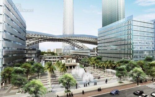 高雄車站改建。(取自交通部鐵路改建工程局)