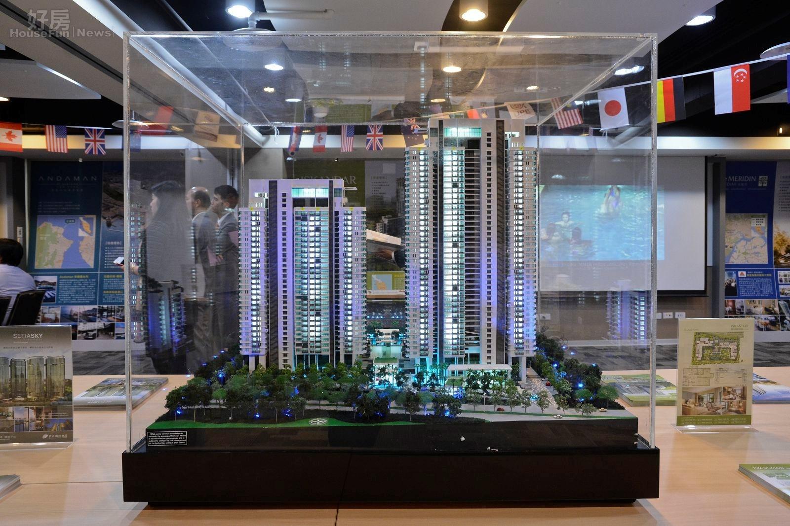 為吸引民眾做海外投資,業者除了說明之外,也做了海外房產模型,希望讓說明會更具說服力。(好房網News記者 陳韋帆/攝影)