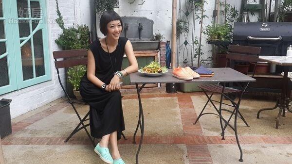 2.Gigi一直很想找個有院子的地方,現在如願以償開了家餐廳。